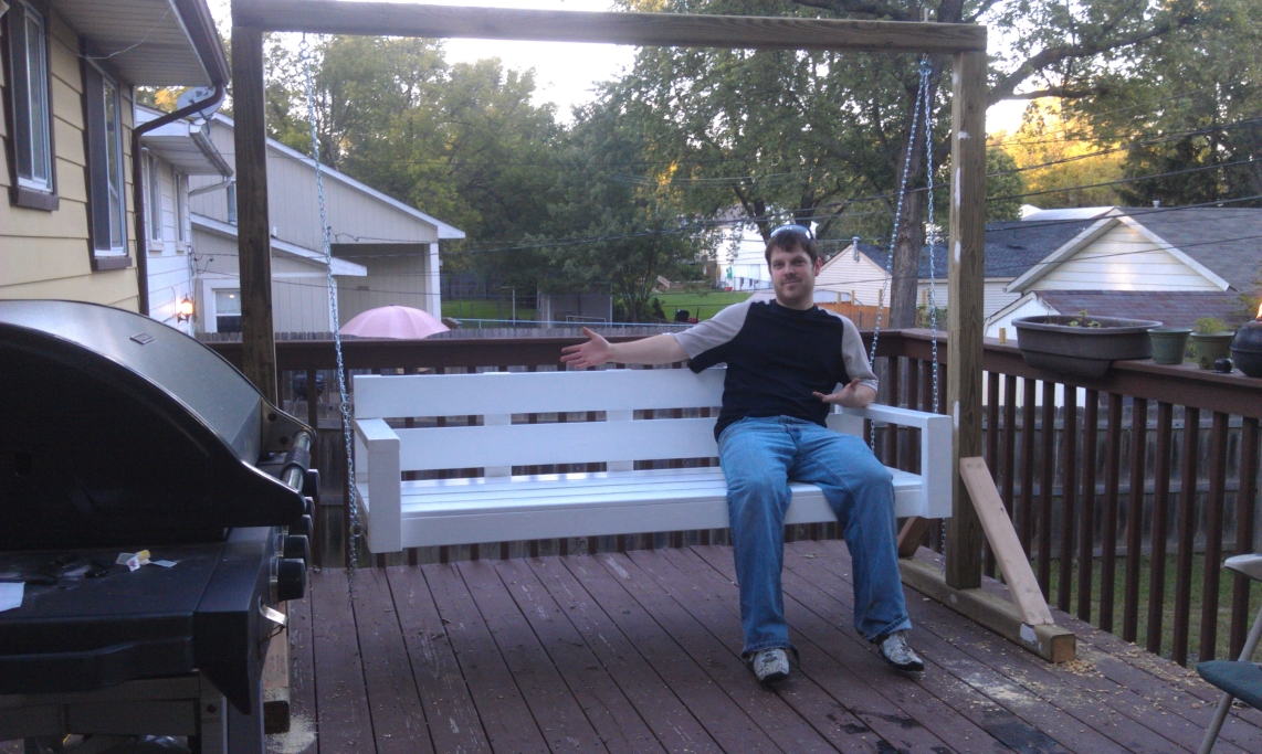 Building A Porch Swing Colorful