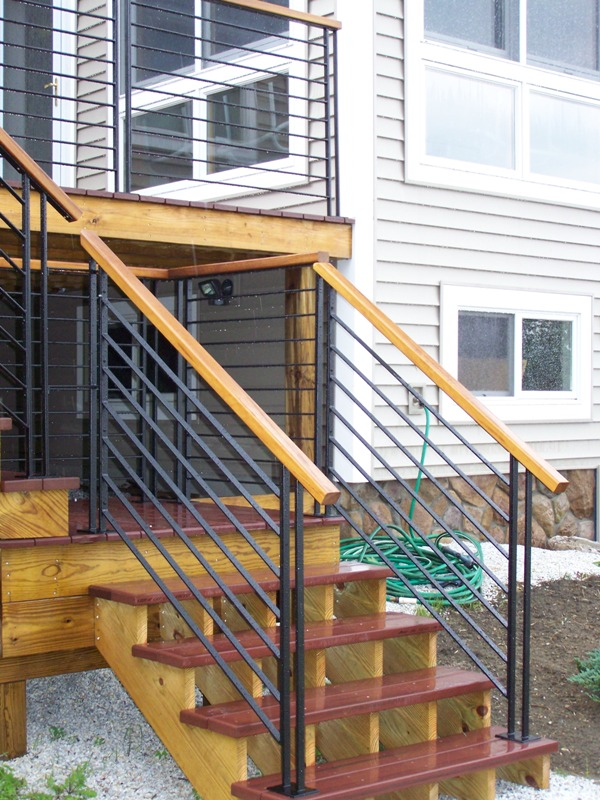 Contemporary Deck Stair Handrail