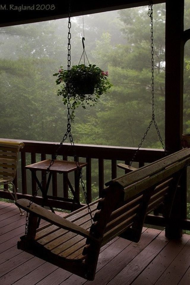 Covered Porch Swing Design