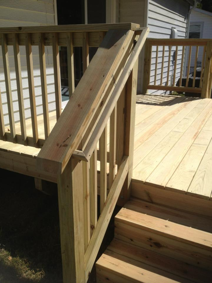 Deck Stair Handrail Construction