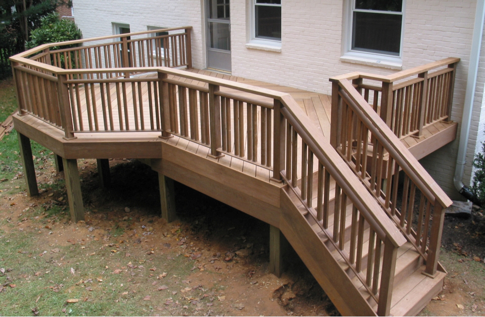 Deck Stair Handrail Style
