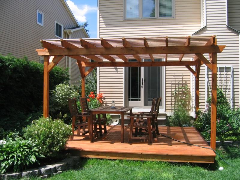 Deck With Pergola Garden