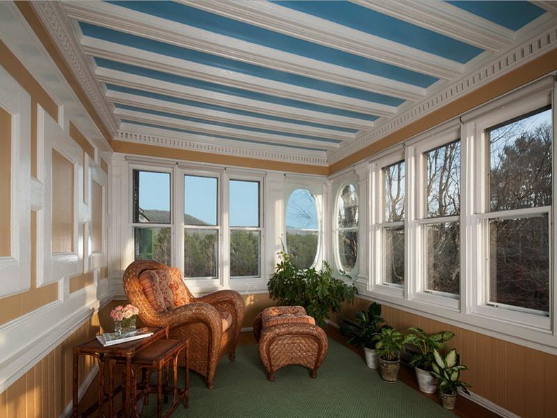 Enclosed Front Porch Ideas Ceiling