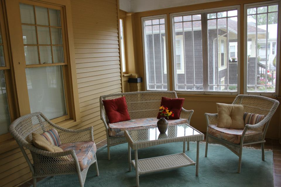 Enclosed Front Porch Ideas Seating