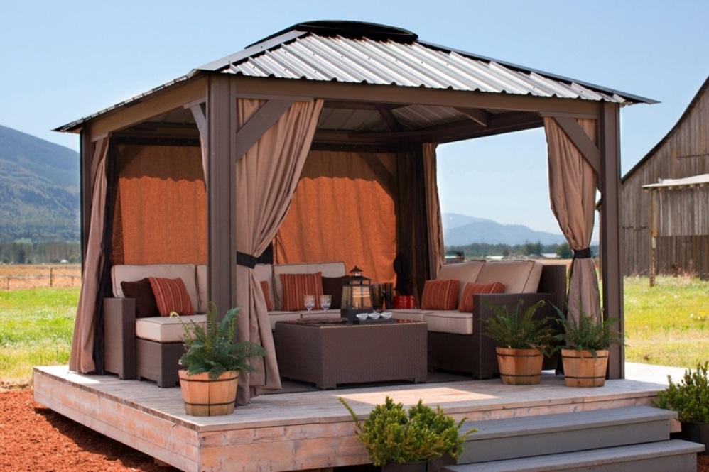 Gazebo For Hot Tub Backyard