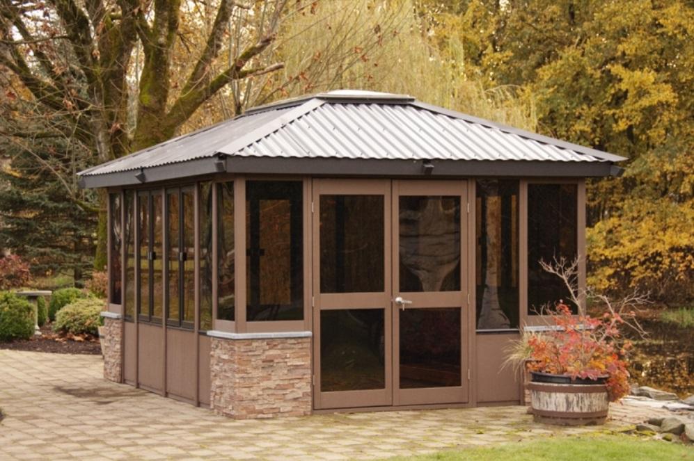 Gazebo For Hot Tub Garden Rickyhil Outdoor Ideas