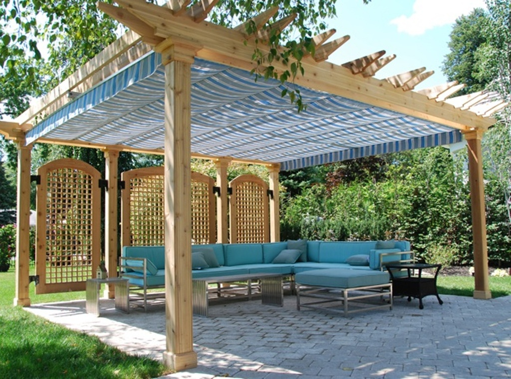 Hampton Bay Pergola With Canopy Pictures