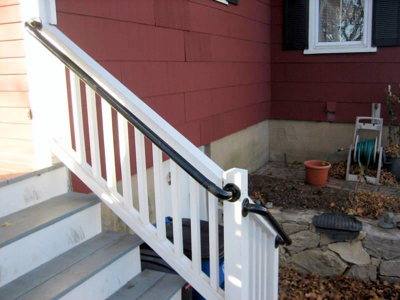 Metal Deck Stair Handrail