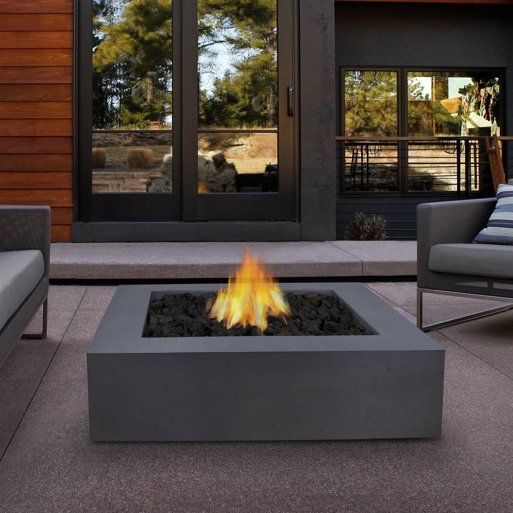 Modern Propane Outdoor Fireplace