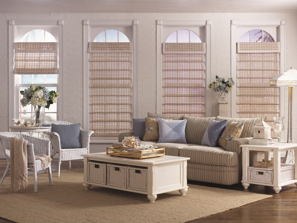 Natural Sunroom Window Treatments