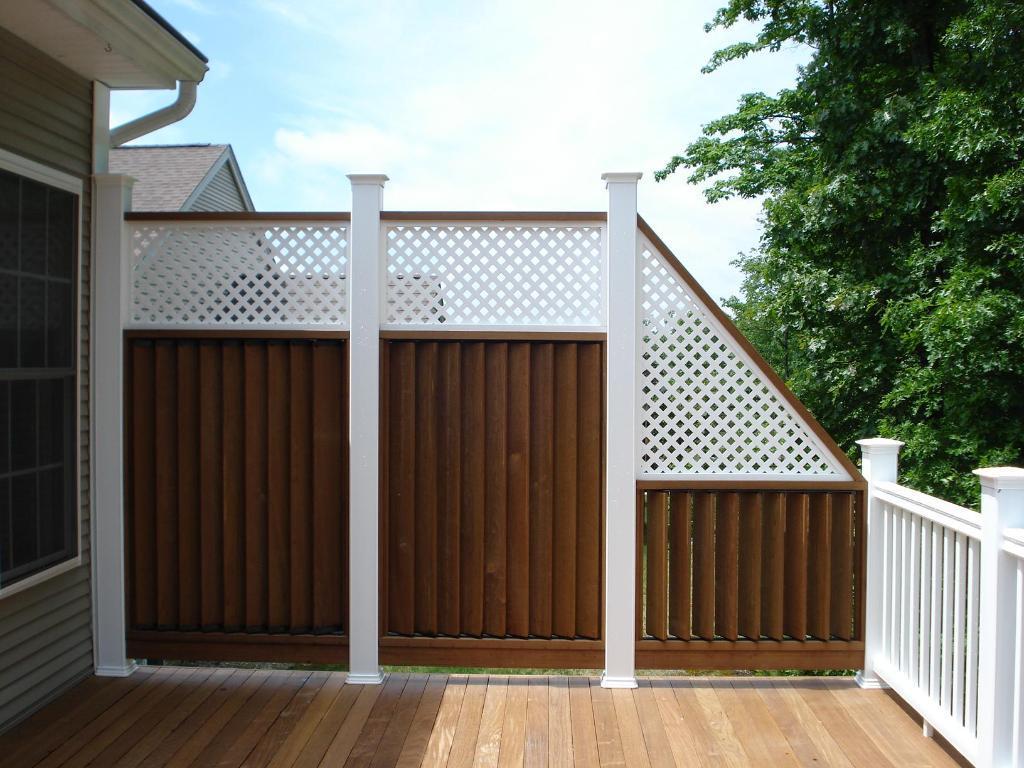Privacy deck rail Privacy Porch New Privacy Deck Railing Wildlives Popular Privacy Deck Railing Ideas Rickyhil Outdoor Ideas