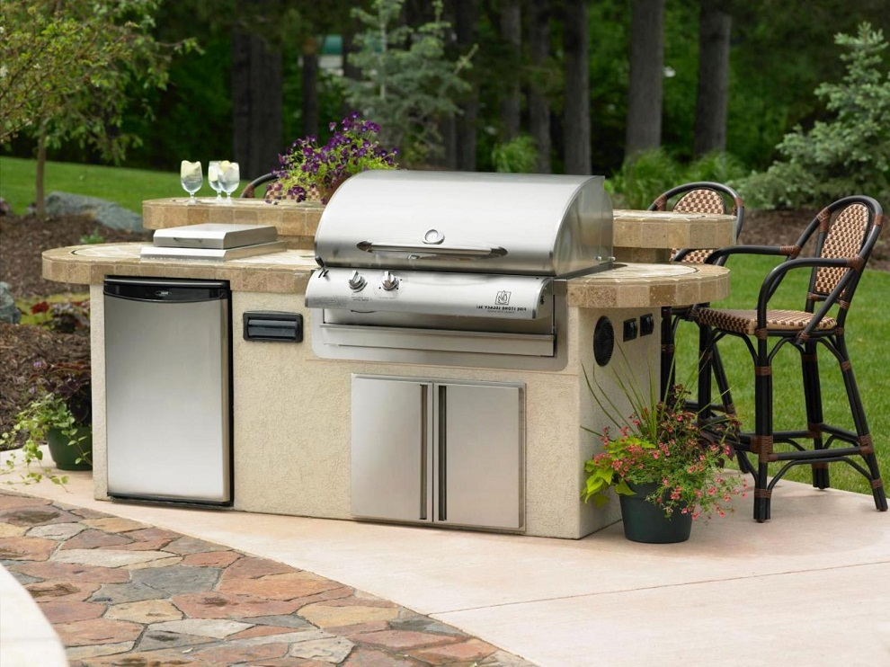 Outdoor Charcoal Grills Set