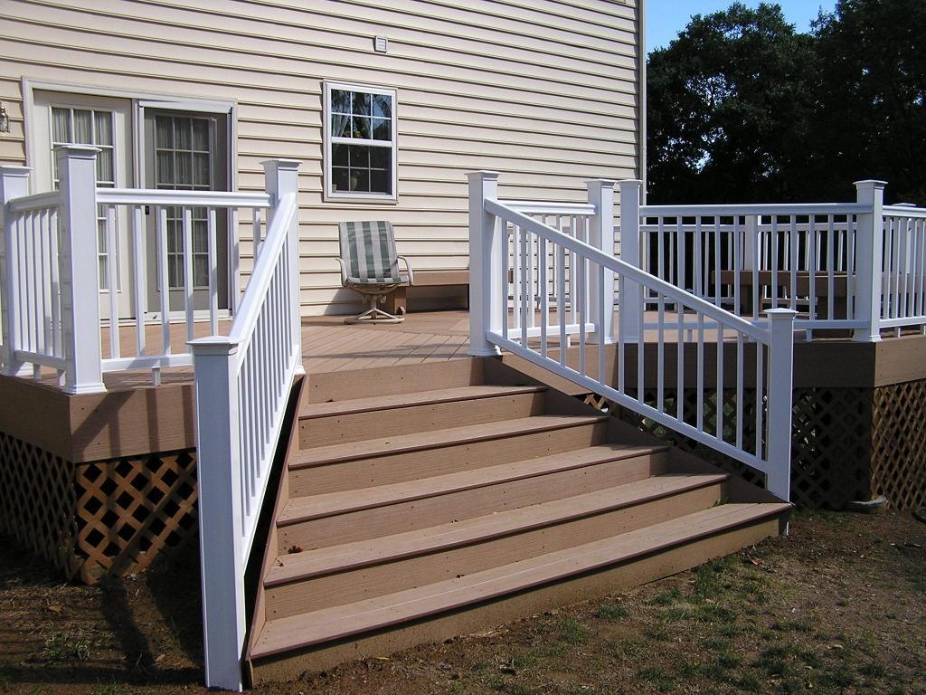Outdoor Deck Stair Handrail