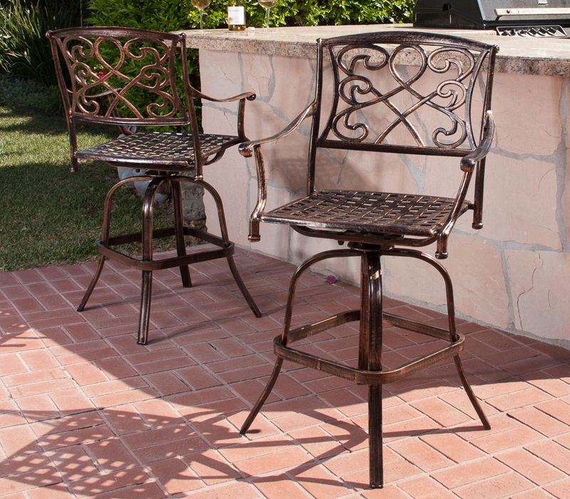 Outdoor Swivel Bar Stools Images
