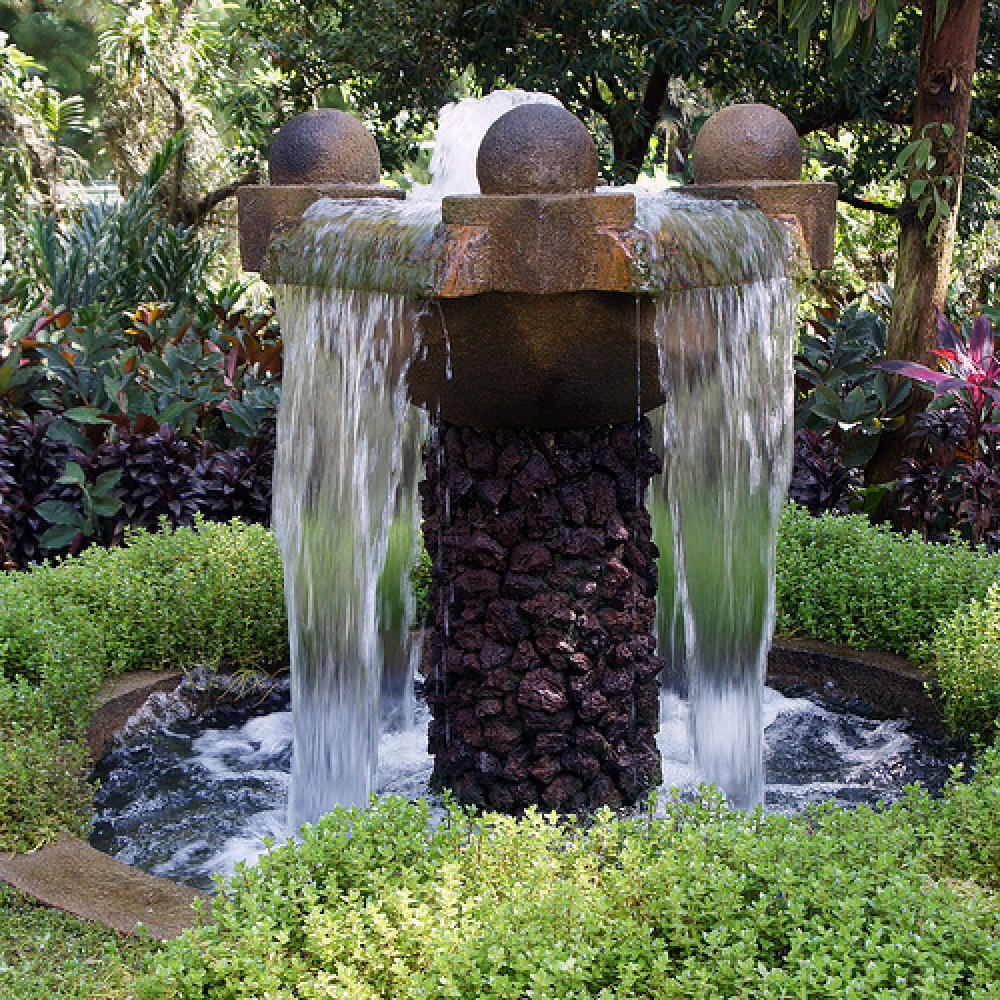 Outdoor Waterfall Fountain Ideas