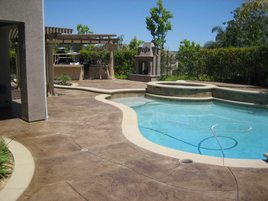 Perfect Staining Concrete Patio