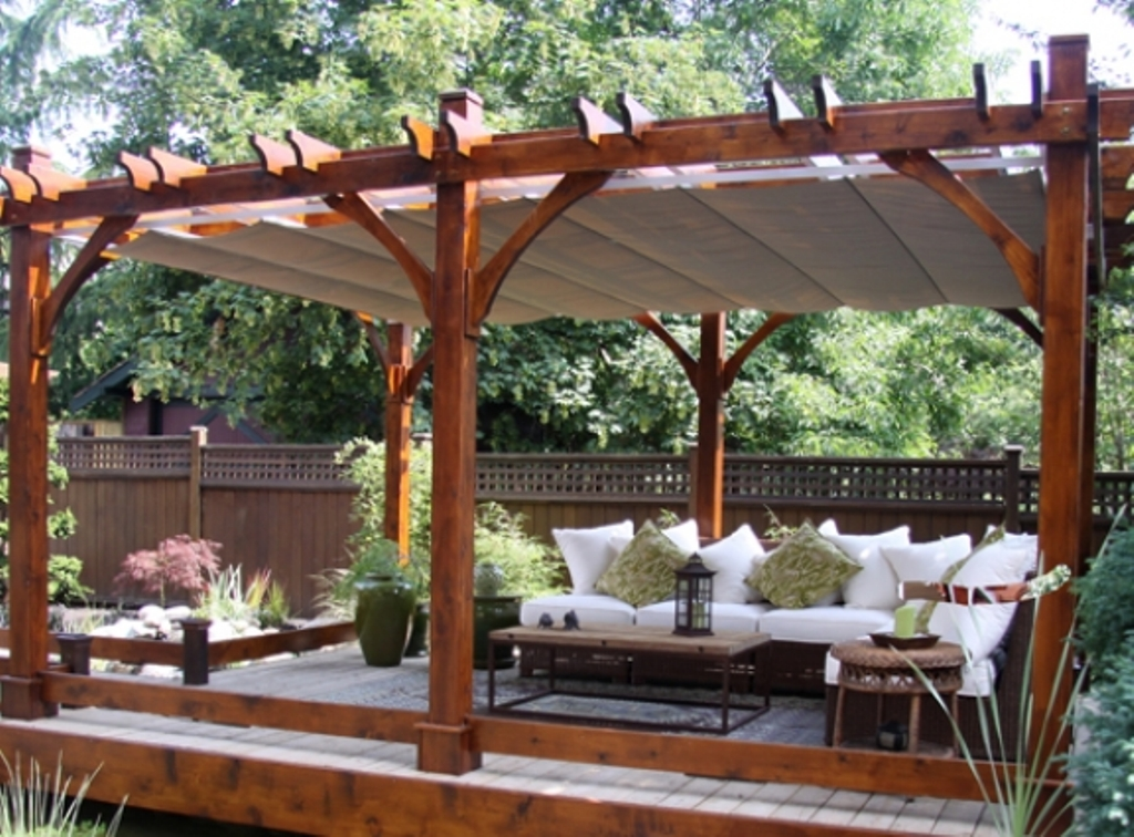 Pergola Canopies Backdrop Screen