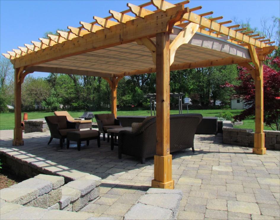 Picturesque Cedar Wood Patio Cover For Square Pergola Plans
