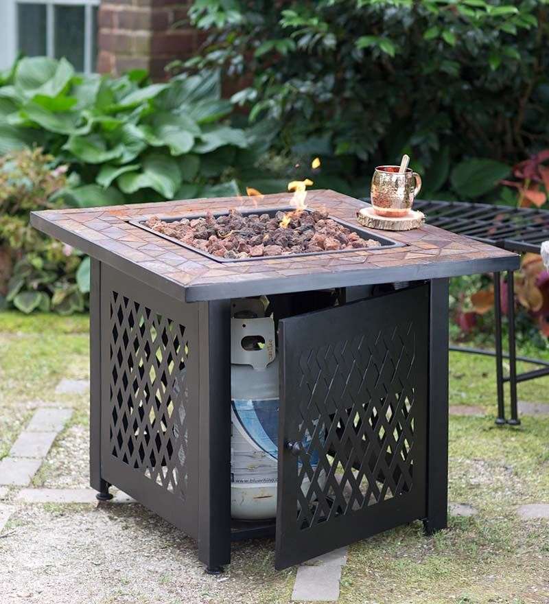 Propane Outdoor Fireplace Size