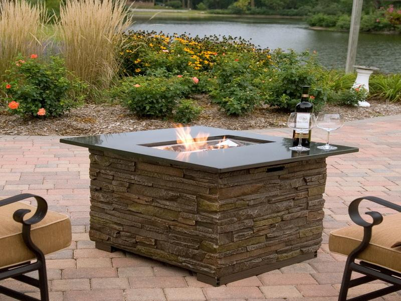 Propane Outdoor Fireplace Table