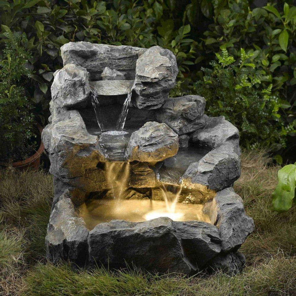 Rock Outdoor Fountain Ideas