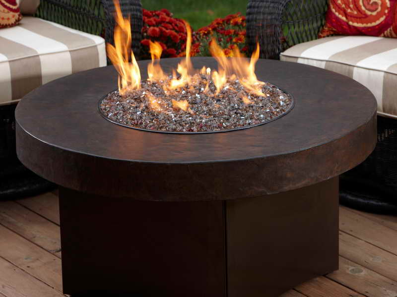 Round Propane Outdoor Fireplace