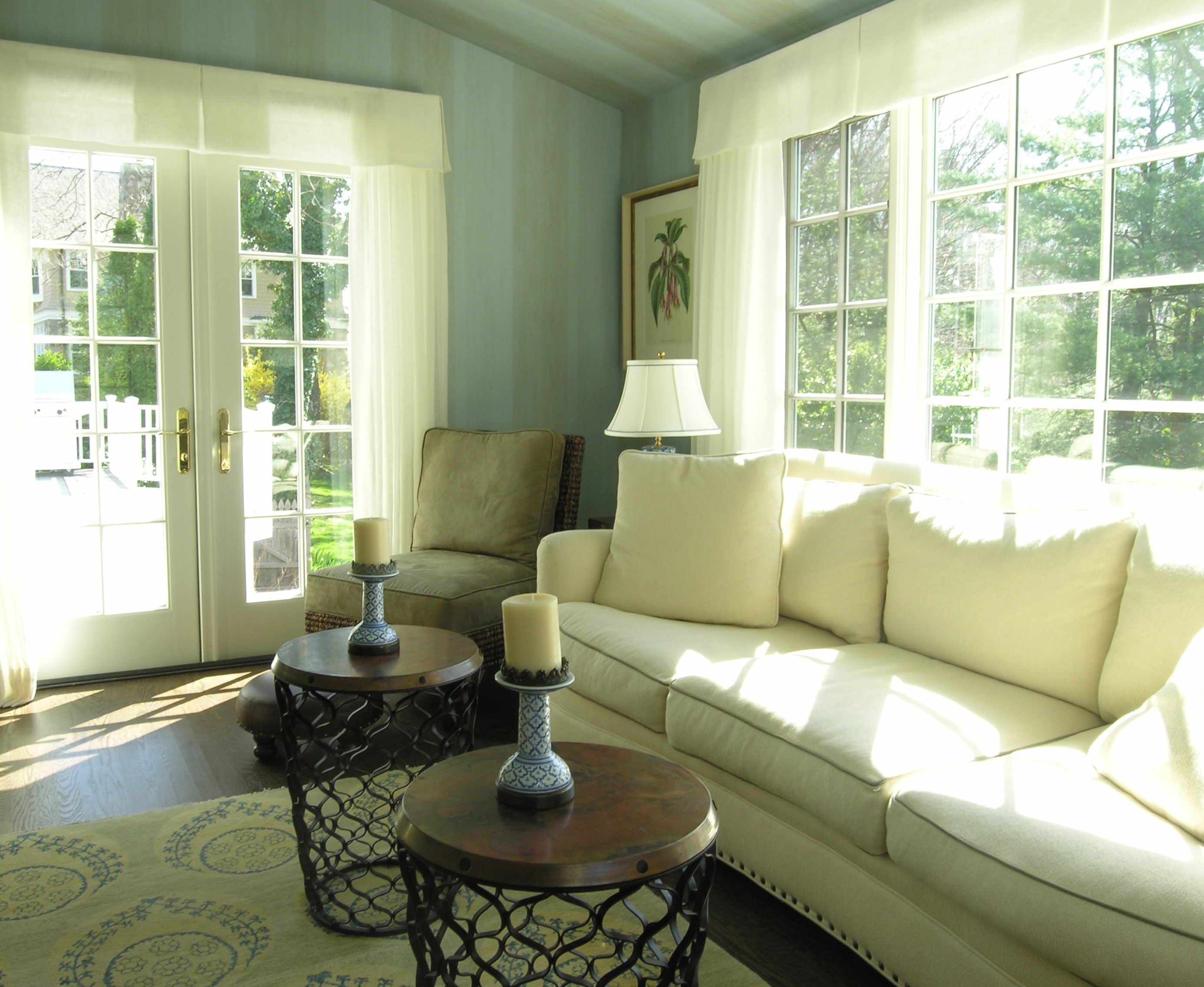 The Sunroom Window Treatments