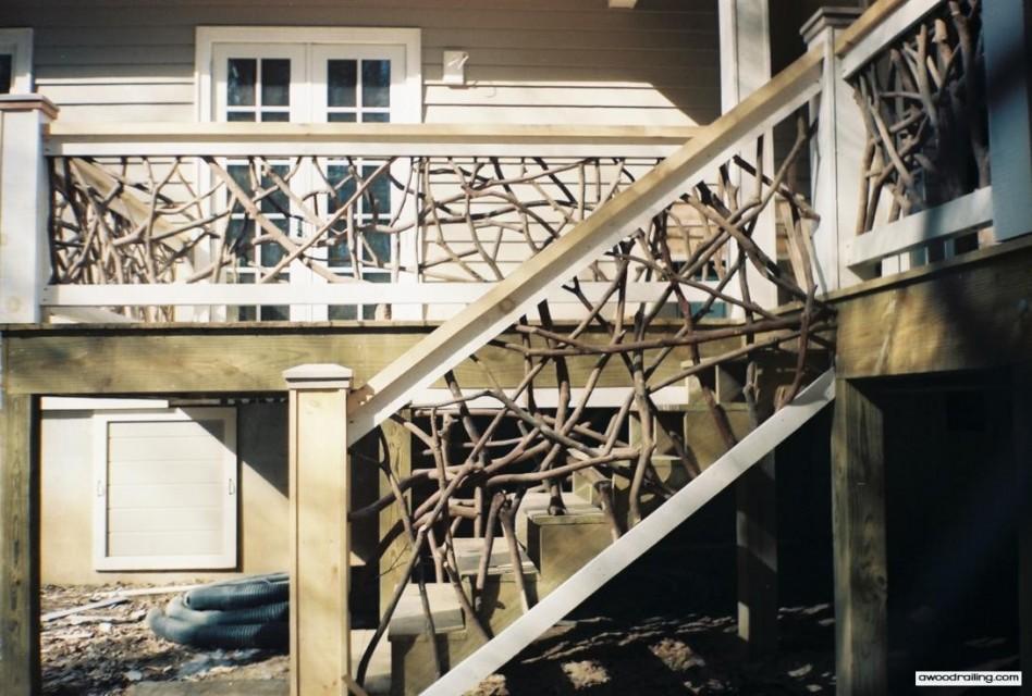 Unique Deck Stair Handrail