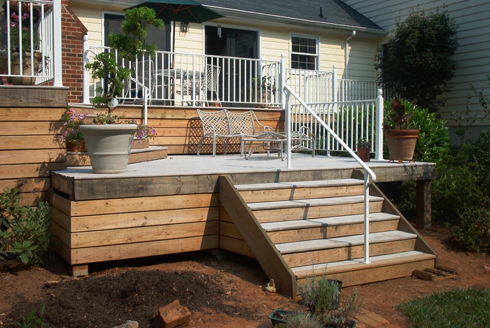 White Horizontal Deck Railing : Rickyhil Outdoor Ideas ...