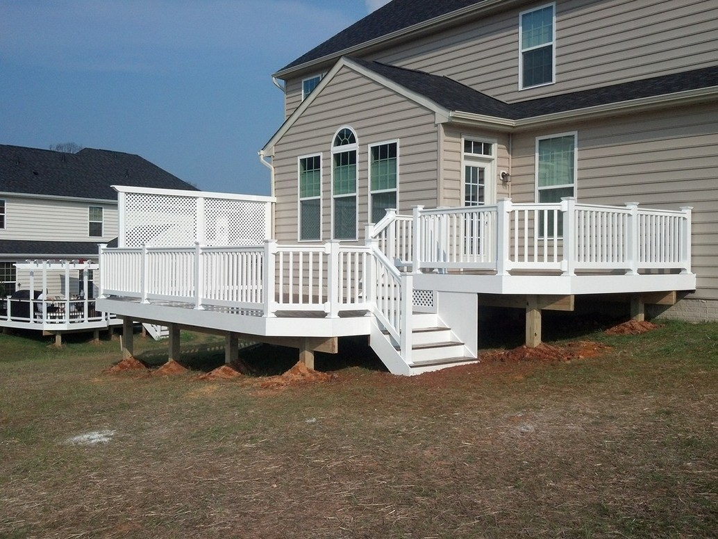 White Privacy Deck Railing
