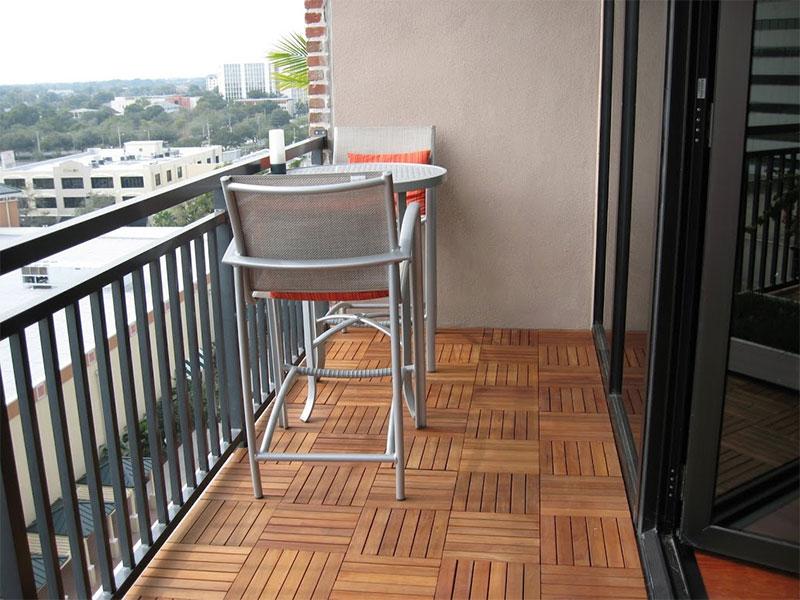 Wood Interlocking Deck Tiles