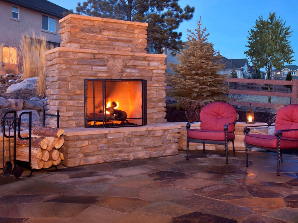 Outdoor Fireplace Chimney Cap Ideas