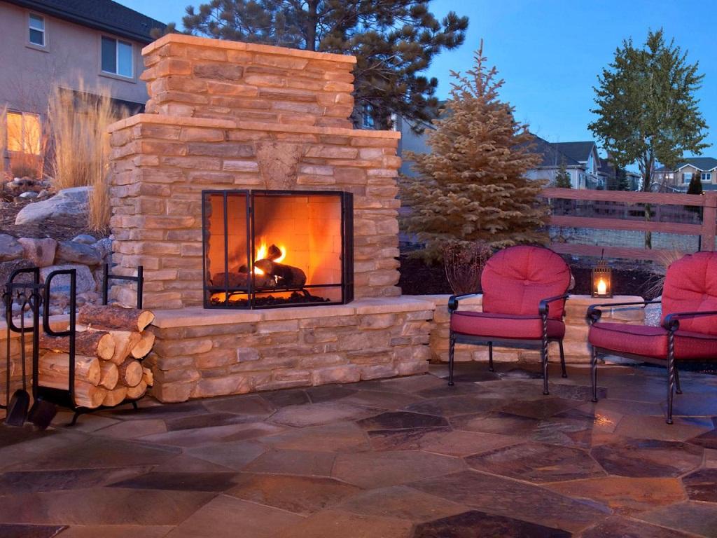 Outdoor Fireplace Chimney Cap Ideas