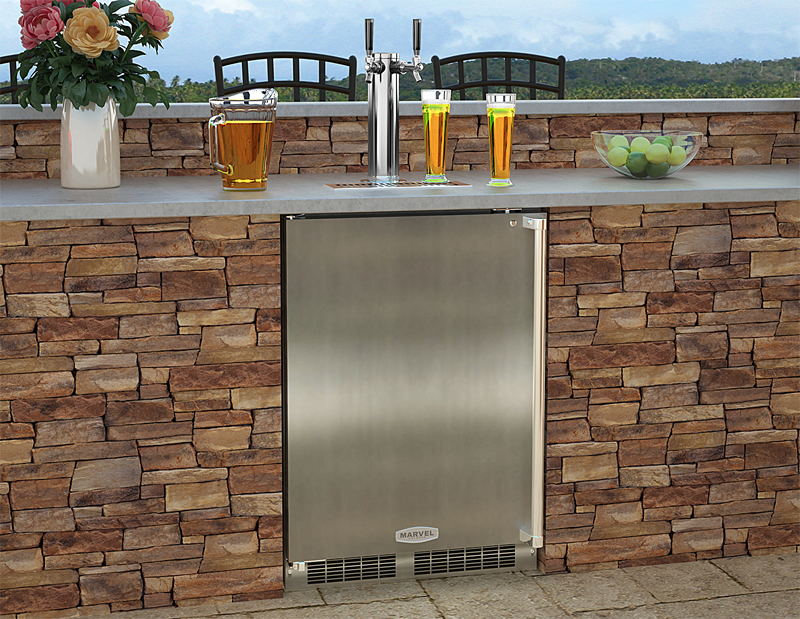 Double Tap Built In Kegerator Rickyhil Outdoor Ideas